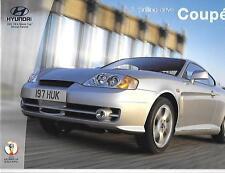 HYUNDAI COUPE 1.6S, 2.0SE AND 2.7 V6 3-DOOR CAR BROCHURE JANUARY 2002