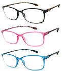1 or 3 Pair s Square Colorful Thin Frame Full Lens Reading Glasses Readers RE90