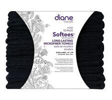 Diane Towel 10 pack BLACK Long Lasting Microfiber Softees w/Duraguard Extr Large