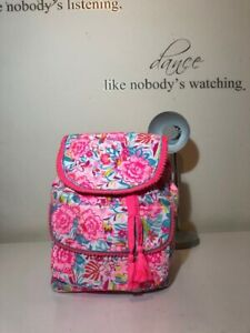 Accessorize Angels Cotton Flowers Print Backpack! New! Only