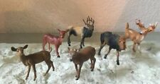 Lot Of 6 Deer Figures Plastic Assortment Project