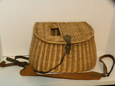 Vintage 1930s Fly Fishing Willow Wicker Fishing Creel Basket Japanese Awesome