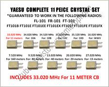 YAESU CRYSTAL FULL COMPLETE SET 11 METER 33.020 FT 101 B E EE EX F FE FL FR FX