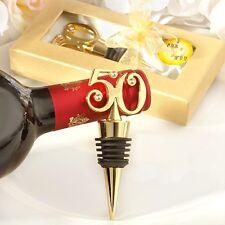BOMBONIERA tappa bottiglie cromato color oro 50 anni anniversario cod 2013
