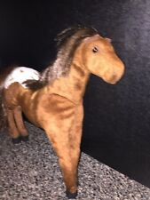 """12""""  Applause Plush Horse Chocolate Brown, White, Spotted, Gorgeous And Detailed"""