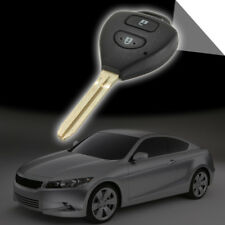 For Toyota Rav4 Corolla Yaris 2 Buttons Remote Key Fob Shell Case & Uncut Blade