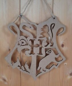 Harry potter House Shield Plaque,Sign,Wooden,Mdf Handmade, Gift