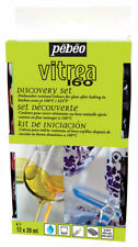 Pebeo Vitrea 160 Stained Glass Paint Discovery Set Water Based Oven - 12 x 20 ml