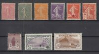 AG4904/ FRANCE – 1903 / 1927 MINT SEMI MODERN LOT - CV 185 $