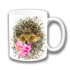 süß Igel mit Herz Kaffee Tasse 'All you need is love' 284ml Keramik kunstvoll