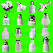 45+ TYPES BC B22 B15 ES E27 E14 E12 E40 GU10 G9 G24 MR16 Adaptor Holder UK STOCK