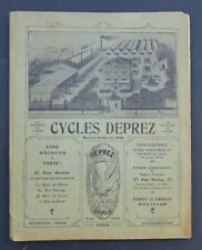 Catalogue 1912 CYCLES DEPREZ bike vélo jumelle phonographe saxophone arme