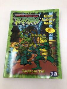 2004 TMNT Teenage Mutant Ninja Turtles COLORING BOOK GIANT Activity Home  New