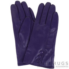 LADIES BUTTER SOFT PREMIUM REAL LEATHER GLOVES WITH TRIPLE BUTTON DESIGN