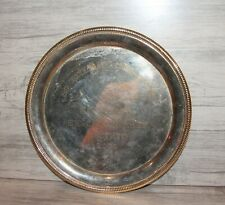 Engraved silver plated platter tray