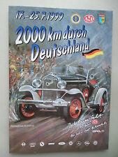 2000 km durch Deutschland 1999 Jubiläumsfahrt 100 Jahre Opel Automobile