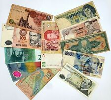 Lot of 11 World Banknotes Collection Auction From 1$