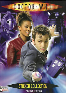 Doctor Who Second Edition Near Complete Official Sticker Album & Poster Merlin