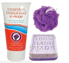 Bath & Body Facial Mask and Soap 3 Piece Gift Set  ~Lavender~