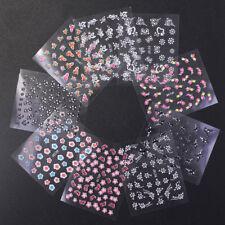 Manicura Nails 3D Aplique Pegatina de Uñas Flores Decoración Arte Mujer Moda