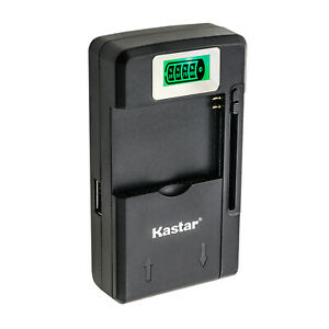Kastar Universal Battery Charger USB-Port LCD Indicator Screen For Mobile Camera