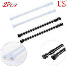 2Pcs Curtain Loaded Rod Tension Adjustable Spring Extendable Pole Rod Strong Kit