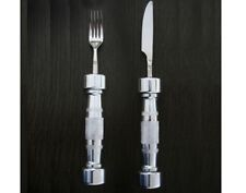 Eat Fit Dumbbell Weights Cutlery Set - Fork and Knife (2 piece) - Fitness Gift