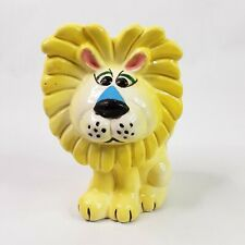 MCM Napco Yellow Lion Bank Vtg Ceramic figurine SMALL