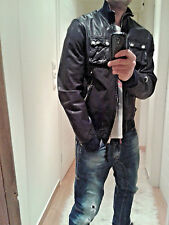 Authentic DSQUARED leather biker jacket 71AM130 tag.54
