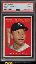 1961 Topps Mickey Mantle MVP #475 PSA 6 EXMT