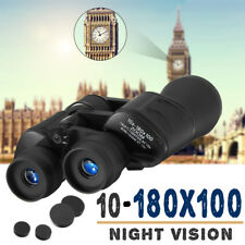 10-180x100 Zoom Binoculars Telescope Waterproof Outdoor Hunt Day Vision w/ Bag