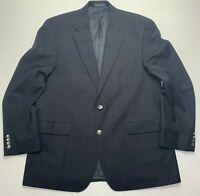 Michael Kors 44R Solid Black 100% Wool Sport Coat Blazer $295