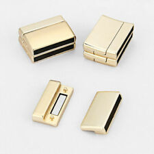 2Sets Matte Gold Strong Magnetic Clasp For Up To 25*3mm Flat Leather Cord