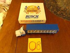 "WINROSS 1/64 Die-cast SEMI TRUCK / TRAILER DIECAST "" busch beer,very rare,blue"