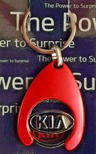 Kia Schlüsselanhänger mit Einkaufswagenchip rot Schlüssel Anhänger 20050