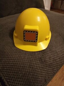 Childs yellow toy builders hard hat, Melissa and Doug - never been used.