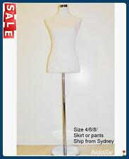 FEMALE LADY DRESS MANNEQUINS DISPLAY ADJUSTABLE CHROME STAND SIZE SIZE 4 8
