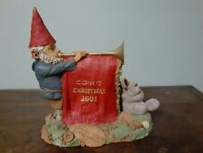"Tom Clark Gnome "" Cairn Christmas 2001 "" edition # 14"