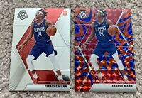 Terance Mann 2019-20 Mosaic #246 Red Blue Reactive Prizm Rookie RC SP + Base
