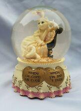 San Francisco Music Box Co Cat Snow Globe When I'm Bad I Purr The Entertainer
