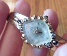 Jules Jurgensen Ladies Sapphire and Diamond Watch vintage gold tone