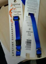 Lupinepet Fabric Cat Safety Collar. 6 Choices. US Made.. Optional Free Bell.