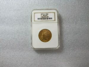 1910 D  $10 DOLLARS GOLD INDIAN HEAD EAGLE COIN NGC MS - 62