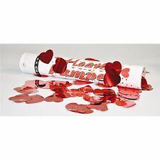 Konfetti-Party-Shooter Herz, 30 cm, Confetti streuen, Partydeko, Herzen regnen