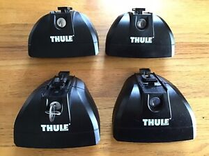 Thule 753 Rapid System Roof Rack Foot - Pack of 4 with key Good condition