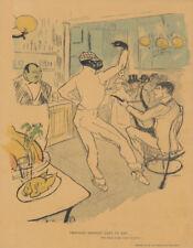 Original Vintage Print Henri de Toulouse-Lautrec Chocolat Dansant Dans un Bar