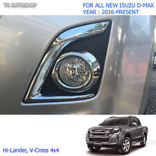 For Isuzu D-Max Holden 1.9L 4x4 2016 2017 Chrome Ring Fog Lamp Spot Light Cover