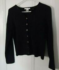 Jillian Jones black cotton blend cardigan sweater PM