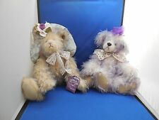Adorable Annette Funicello Bears- Hannah and Bear with Lace
