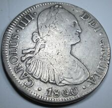 1800 Die Crack Spanish 8 Reales Silver Eight Real Coin Dollar Pirate Treasure